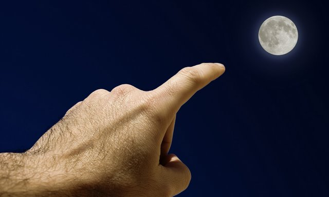 Our Fingers Point to the Moon Just As Our Religions Point to God